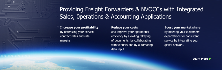 Providing Freight Forwarders & NVOCCs with Integrated Sales, Operations & Accounting Applications